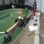 BIC スポーツヤック 213 ミニボートに自作ロッドホルダーを艤装